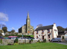Stevenston, Church of Scotland High Kirk, & the Champion Shell Inn, Ayrshire © Chris Court